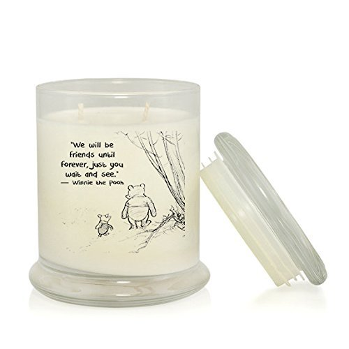 Pooh Friends And (We Will Be Friends Until Forever, Just You Wait and See 8.5 oz. Soy Candle -- A.A. Milne -- Winnie the Pooh and Piglet Quotes -- Rain Water Scent)