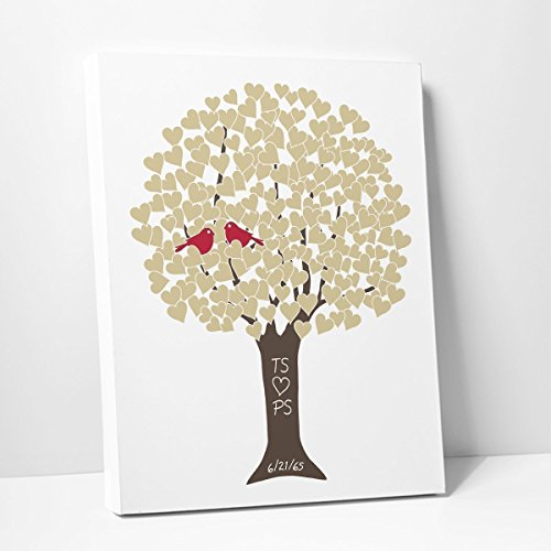 Wedding Day Heart Tree Personalized with Names & Anniversary