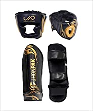 JP 2 in 1 MMA Children Boxing Headgear and Instep Padded Shin Guard