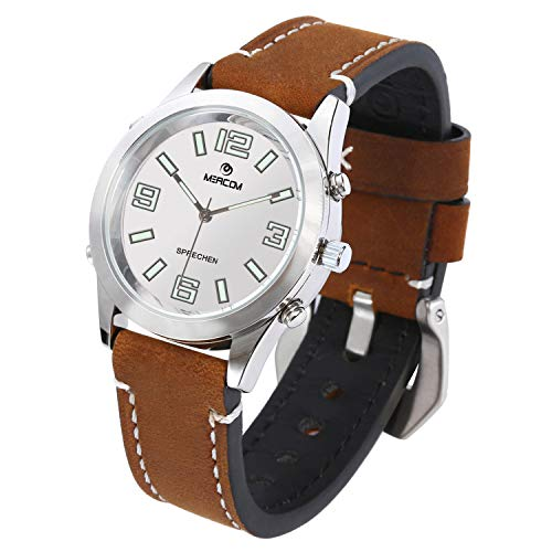 Speaking Wristwatch with Leather Strap Only $29.99