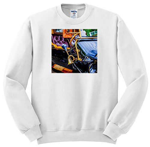 Price comparison product image 3dRose Alexis Photography - Transport Road - Horn Of an Ancient Cabriolet Car. History Of Road Transport - Sweatshirts - Youth Sweatshirt Small(6-8) (SS_273801_10)