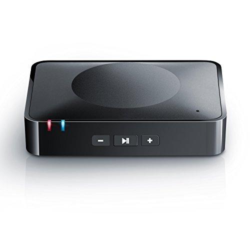 CSL - Bluetooth HiFi Adapter Receiver / Audio Surround Empfänger inkl. NFC sowie Mikrofon | schnurloser Musikadapter / Bluetooth-Empfänger für Audiogeräte | Bluetooth V3.0 (A2DP + AVRCP) | Eingebautes Mikrofon (