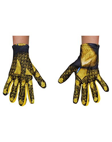 Yellow Power Ranger Costume Child (Yellow Power Ranger Movie Child Gloves, One Size)