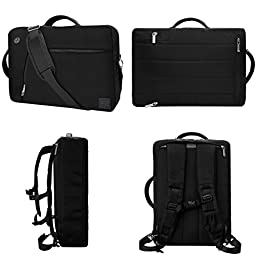 VanGoddy Black Slate 3-in-1 Hybrid Laptop Bag for Apple iPad Pro / iPad / iPad Air / 9.7\