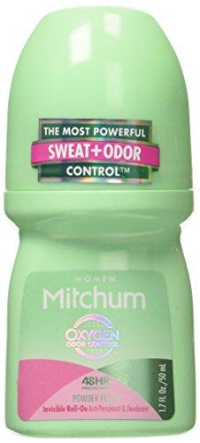 Mitchum for Women Roll On, Anti-Perspirant & Deodorant, Powder Fresh, 1.7 Oz (Pack of 6)