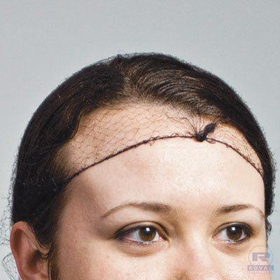 Latex-Free Hairnets, Nylon, Dark Brown, One Size Fits All, 2880/carton