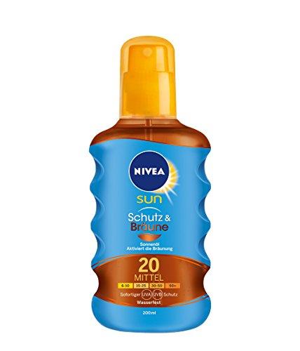 Nivea Sun Protect & Bronze Öl Spray LSF 20, 200 ml, 1er Pack (1 x 200 ml)