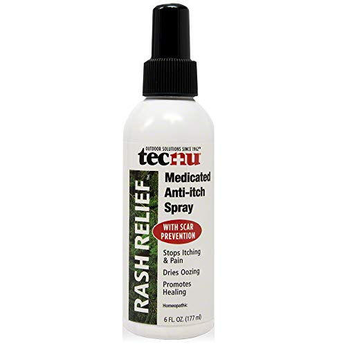 Tecnu Rash Relief Medicated Anti-Itch Spray, Soothes Itching and Prevents Scarring, 6 fluid Ounces (Best Cure For Spider Mites)