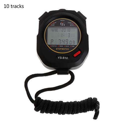 Professional Portable Handheld Timer Digital Stopwatch Sport Running Training Chronograph Timer Stopwatch (Display: 10 - 10 Stopwatch