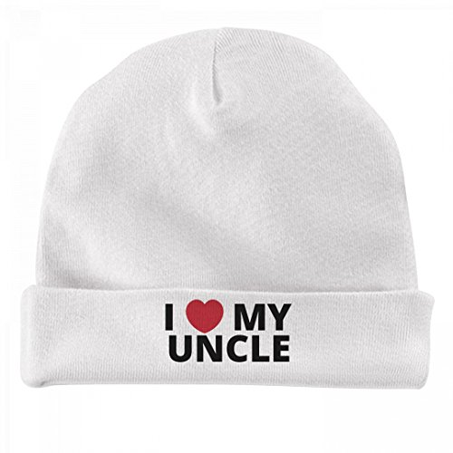 FUNNYSHIRTS.ORG Infant I Heart My Uncle: Infant Baby Hat (Uncle Family Cap)