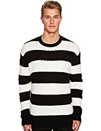 Mens Wide Stripe Sweater