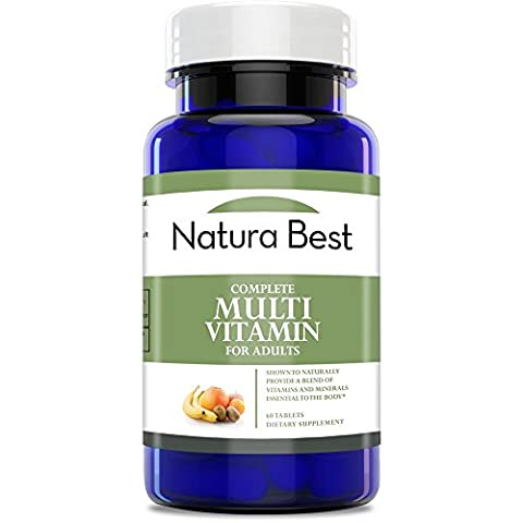 Naturabest Complete Daily Multivitamin for Men and Women - Supplement Provides Essential Vitamins and Minerals, 60 - 3 Light Jt System