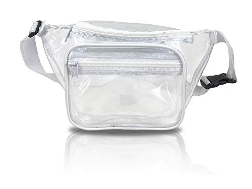 Clear Fanny Pack. Stadium Approved Waist Bag for Events, Games, and Concerts ()