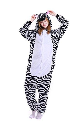 Cleaivy Ladies Flannel Onesie Pajamas Hooded Stuffed Animal Cute One Piece Adult