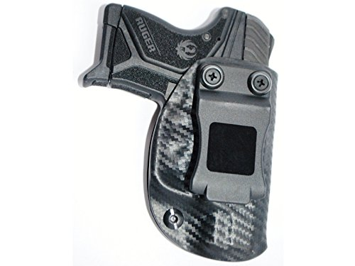 Black Jacket Holster IWB KYDEX Holster: fits Ruger LCP II (2) (Carbon Fiber Black - Right Hand)