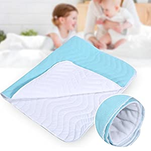 Super Absorbent Washable Reusable Urine Incontinent Mat,Breathable Incontinence Bed Covers Leakproof Elderly Care Diaper…