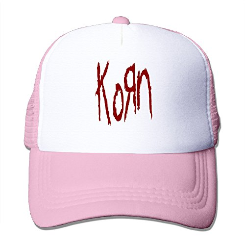 Korn Logo Adjustable Trucker Hat Unisex Pink