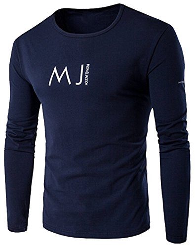 Crew Trousers Wool J - Beautifullight Cool,Handsom Mens Hipster Crew Neck Long Sleeves Printed T-Shirts Navy BlueUS-Small-(China X-Large) Hot and Fashion