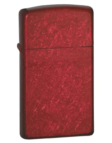 (Zippo Lighter - Slim - Candy Apple Red )