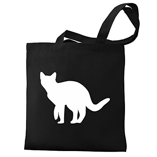 Canvas Aegean Silhouette Cat Eddany Tote Bag wt8TFqRx