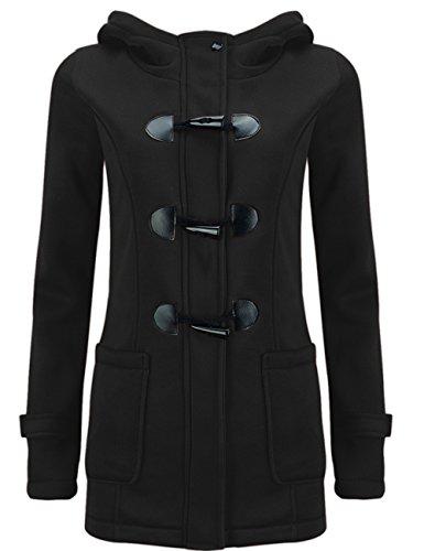 Jacket Sudadera LooBoo Coat con Pea Casual Negro Capa Pullover de Chaqueta Abrigo Invierno Mujer Capucha Lana Parka xSqSRIB