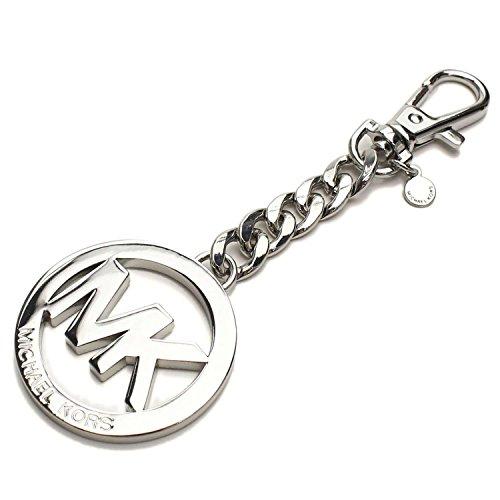 Michael Kors Signature Logo Key Fob & Hang - Keychain Clip Silver