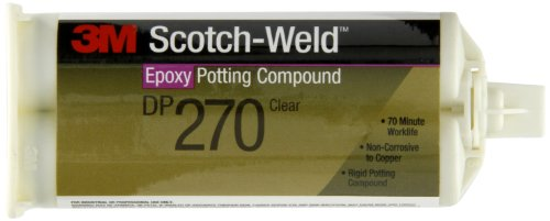 3M Scotch-Weld Epoxy Potting Compound DP270 Clear, 1.69 fl oz (Pack of (Weld Bonding Compound)