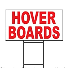 Hover Boards Red Corrugated Plastic Yard Sign /Free Stakes 18 x 24 inches Two Sides Color