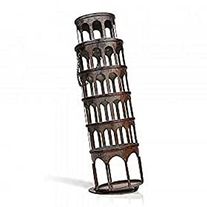 Tooarts Practical Interior Decoration Iron Metal Pisa Tower Design