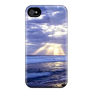 Faddish Phone Sun Beams Case For Iphone 4/4s / Perfect Case Cover