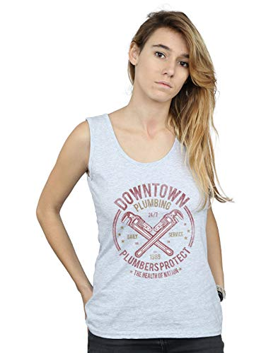 Deporte Gris Downtown Mujer Plumbing Camiseta Sin Drewbacca Mangas xvfYTwqng