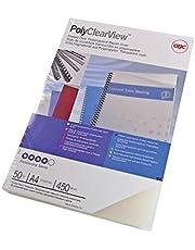 GBC IB387166 - Portada de encuadernación PP POLYCOVERS translúcida 350 micras DIN A4 brillo/mate (Pack 100) color translúcida