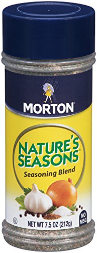 Morton Nature's Seasons Seasoning Blend – Savory Blend of Spices for Lighter Fare - Fish, Vegetables, Salads and Chicken Seasoning, 7.5 OZ Canister (Pack of 12)