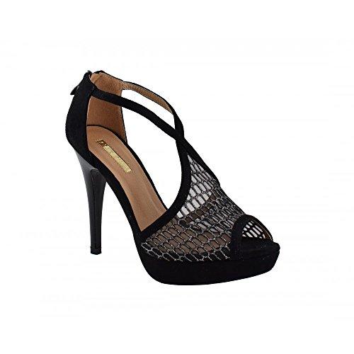 Benavente - Zapato fiesta tacón alto negro y plata - Benavente NEGRO-PLATA