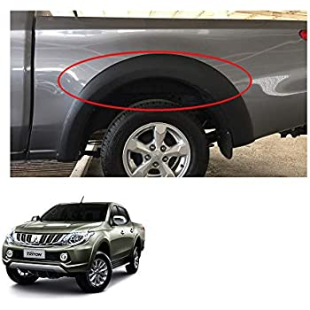 Powerwarauto Rear Lh Rh Fender Flares Arch Wheel for Mitsubishi L200 Triton Plus 4Dr Medium Matte Black
