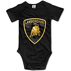 Toddler Lamborghini Logo Funny Romper Bodysuits