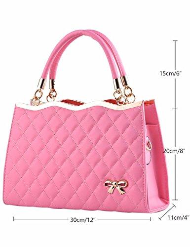 in pu manici per rosa Borsa Holiday pelle a rosa mano Gifts con MSZYZ donna xwq1zR0Yw