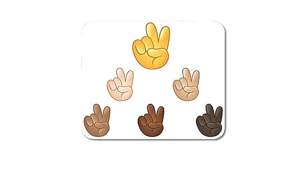 Almohadillas para mouse Emoticon Victoria de la paz negra ...