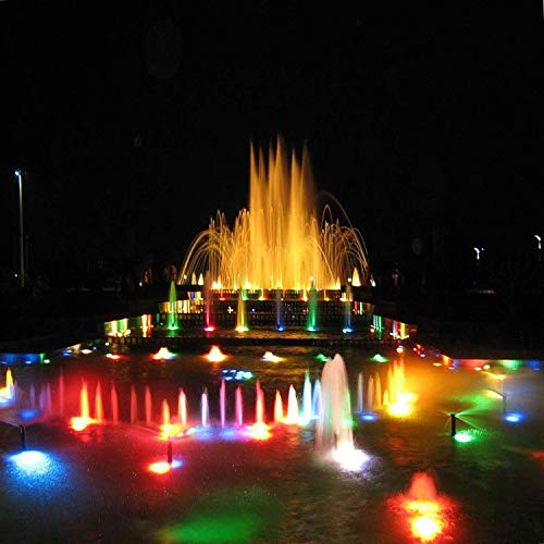 FOEERS 4pcs Waterproof Underwater Light Color Spotlight Lamp Garden Fountain Fish Tank Pool Pond Swimming Pool Aquarium Lighting by FOEERS (Image #5)