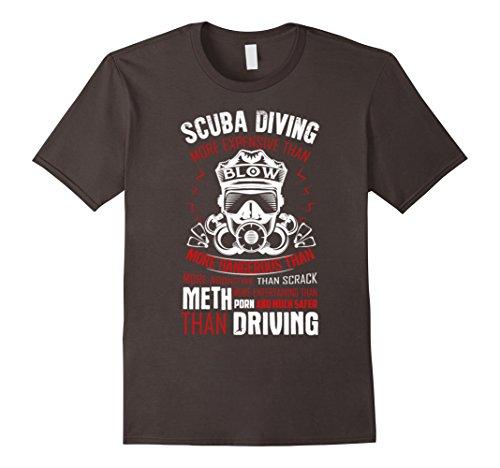 [Men's Funny Scuba Diving T-Shirt Scuba Diver Gifts 3XL Asphalt] (Scuba Diver Costumes)