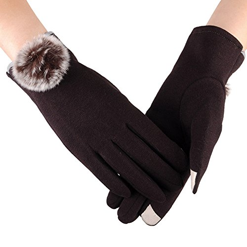 URIBAKE Women's Thermal Gloves Fashion Touch Screen Winter Soft Lining Outdoor Sport Warm Mittens
