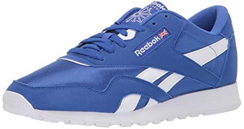 (Reebok Classic Nylon Sneaker, Crushed Cobalt/White, 10 M US)
