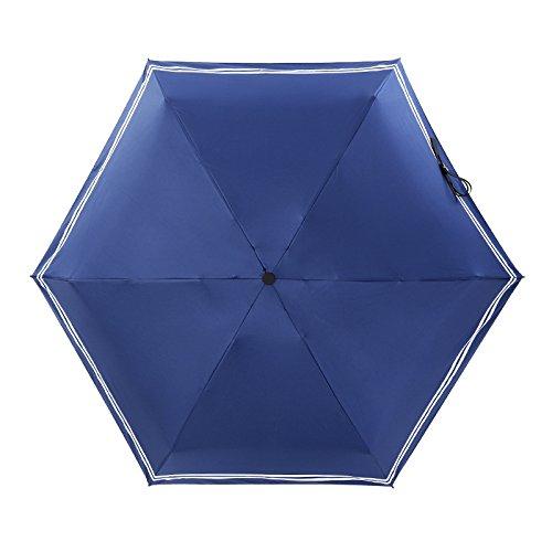 Muhan Sunrainコンパクト傘メンズの女性と子供用紫外線対策自動軽量旅行Umbrellas  ブルー B07F1Q14PD