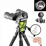Gosky Universal Cell Phone Adapter Mount & Wire Shutter - Compatible Binocular Monocular Spotting Scope Telescope Microscope-Fits Almost All Smartphone