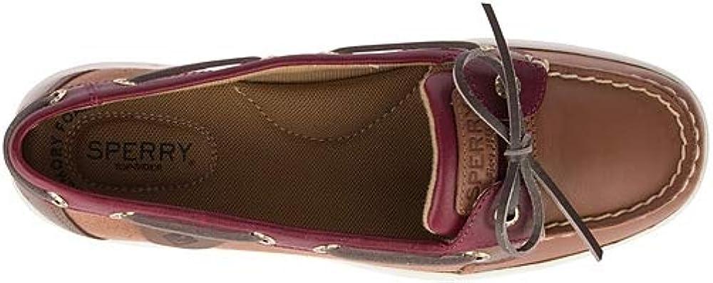 Sperry Women's Angelfish Varsity Boat Shoe Tan/Wine