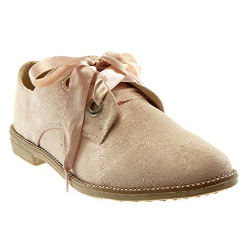 Angkorly Damen Schuhe DerbySchuh Schick Schnürsenkel Aus