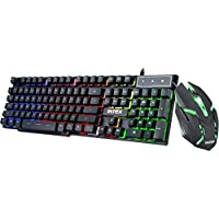 Intex Gaming KB & Mouse Combo-400 Black USB Wired Desktop Keyboard