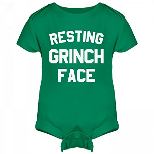 Resting Grinch Face Onesie: Infant Rabbit Skins Lap Shoulder (The Grinch Outfit)