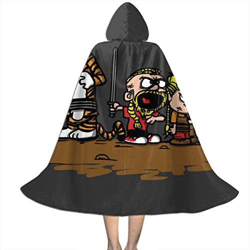 Calvin Et Hobbes Halloween (Calvin and Hobbes Vikings Ragnar Lothbrok Unisex Hooded Cloak Cape Halloween Party Decoration Role Cosplay Costumes)