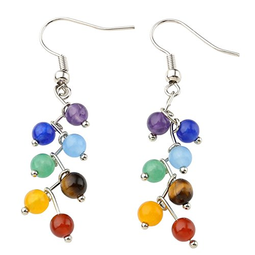 Natural Gemstone Pendulum Earrings Christmas